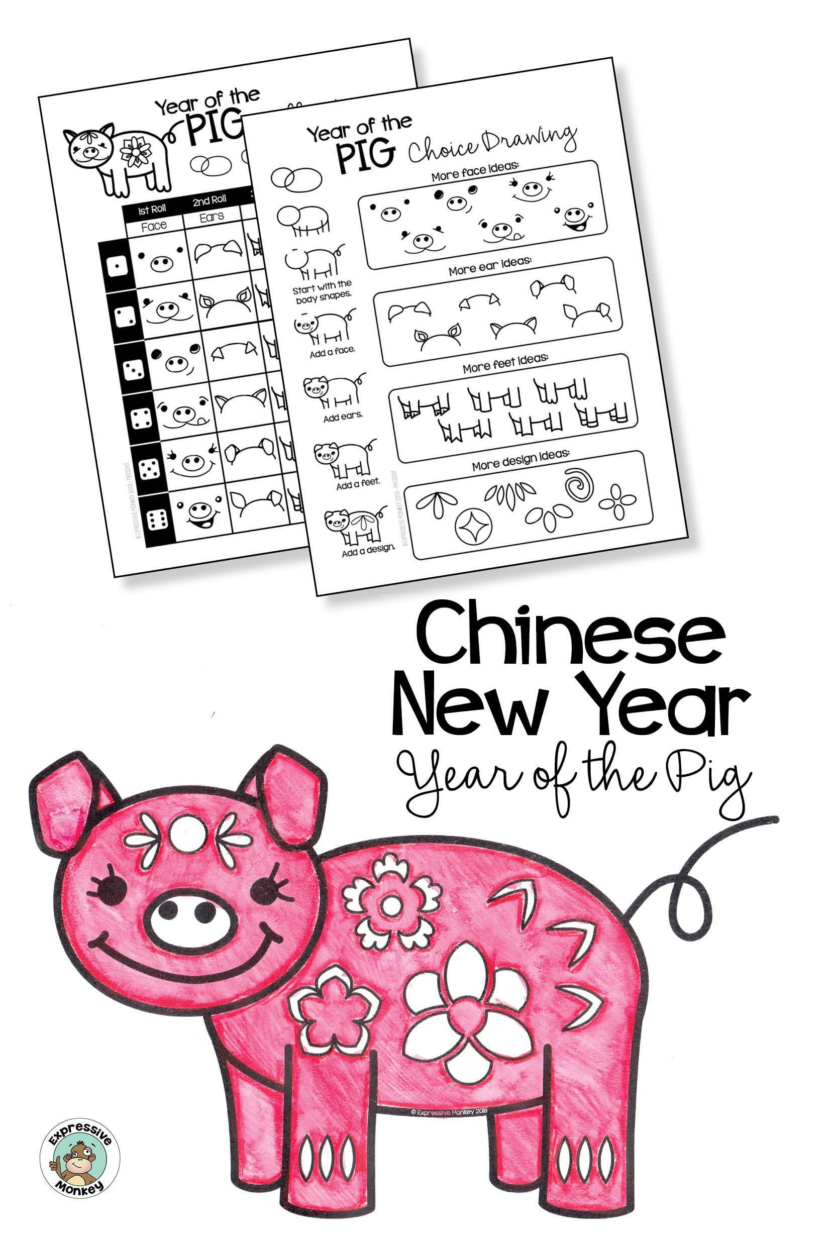 Chinese New Year 2019 Year Of The Pig Drawing With Kids
