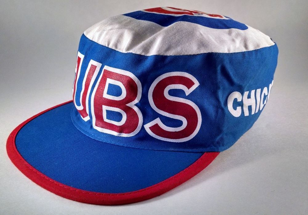 Retro 1980s Chicago Cubs MLB Major League Baseball Painters Cap Hat Vintage b7acb889006