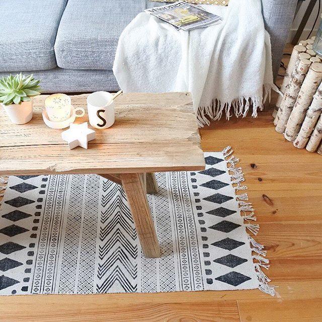 Dänische Möbeldesigner teppich i carpet i block ad0220 i kelim i schwarz weiß i black and