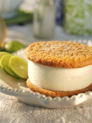 Key Lime Pie Ice Cream Sandwich 8 Pack ~Nye's Cream Sandwiches $32  http://nyescream.net/peppermintchocolate-2.aspx