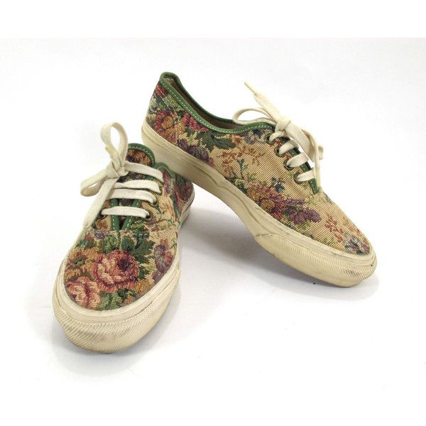 eebb22283e8eed Vans Floral Tapestry Sneakers Ladies Size 7.5 USA Made 1990 (€44) found on