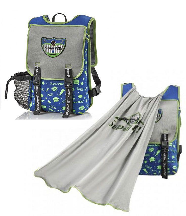 fbf2c8614888 Ocean Graffiti Cape Kids Backpack -superhero backpacks for boys From the  outside