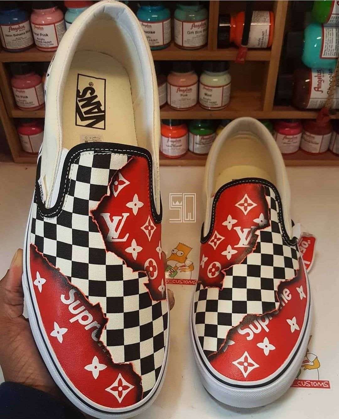 43f24501e86 Pin by SQ Customs on Louis Vuitton   Supreme Vans   Nikes ...