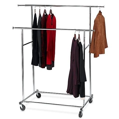 Dual Bar Adjustable Garment Rack Garment Racks Clothing Rack