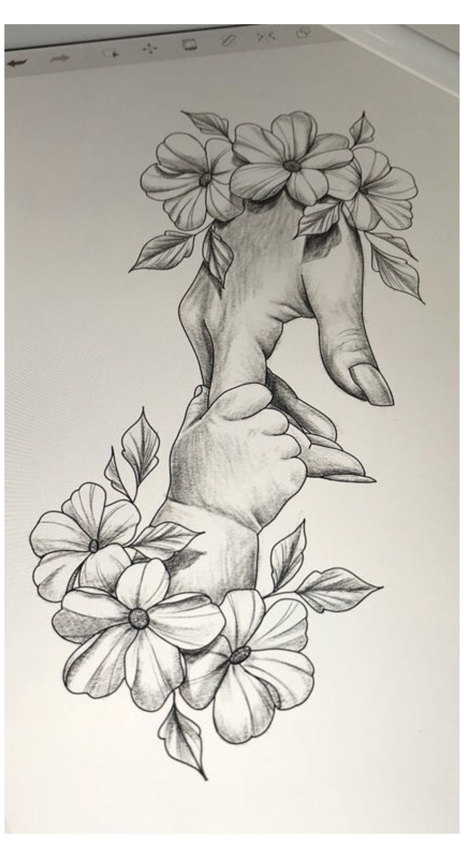 baby girl drawing sketch