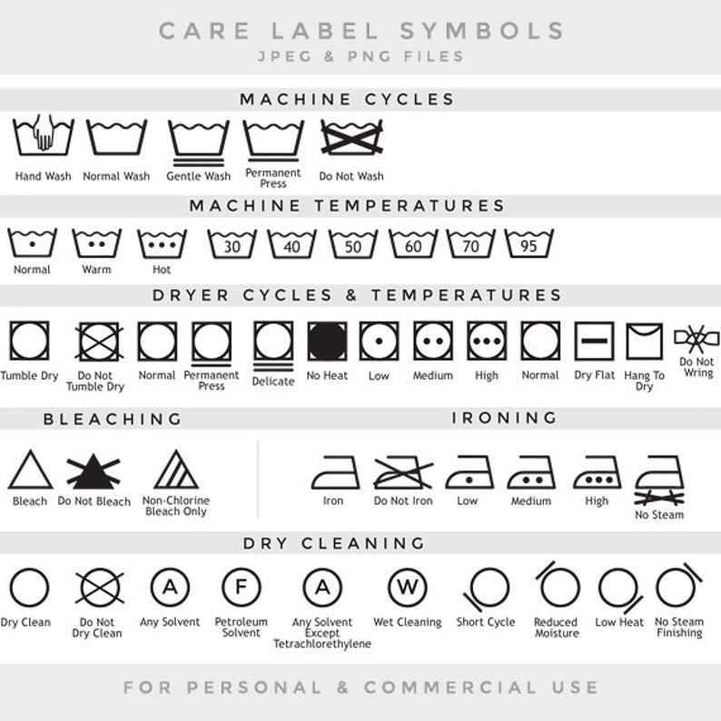 Care label clip art laundry symbols clipart textile care