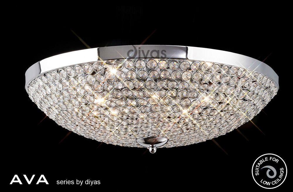 Diyas Ava Ceiling 6 Light Polished Chrome/Crystal IL30188