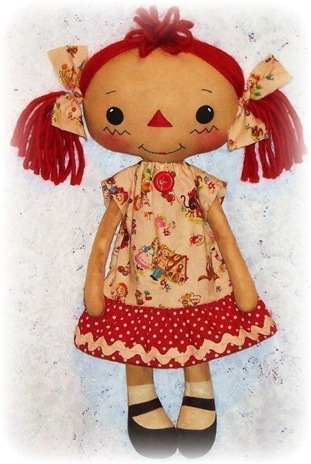 Cloth Doll Pattern, PDF sewing Pattern, Rag Doll Pattern, Raggedy ...