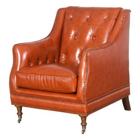 Hunter Top Grain Waxed Leather Chair Burnt Orange Products In