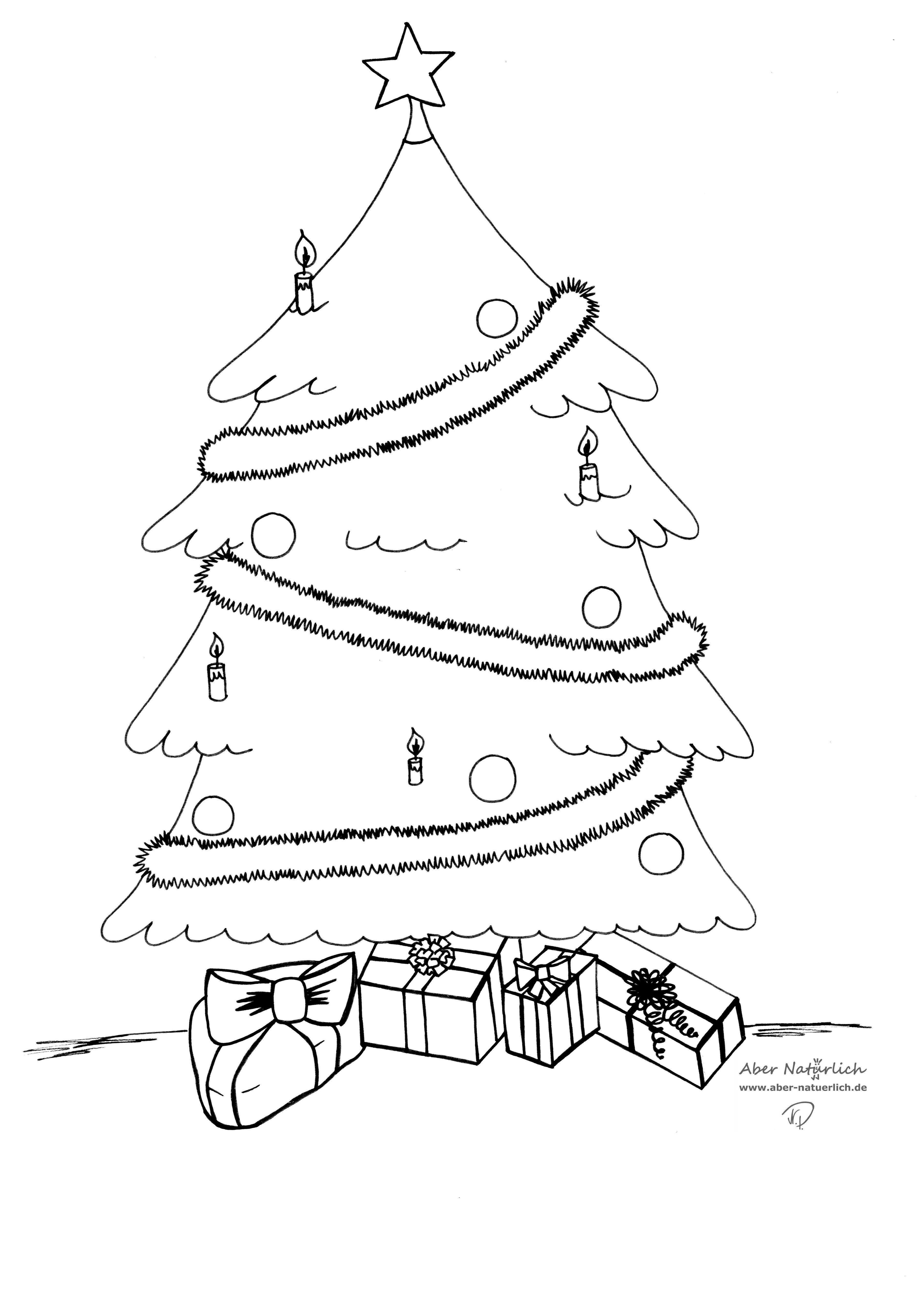 view 20 tannenbaum skizze zum ausdrucken