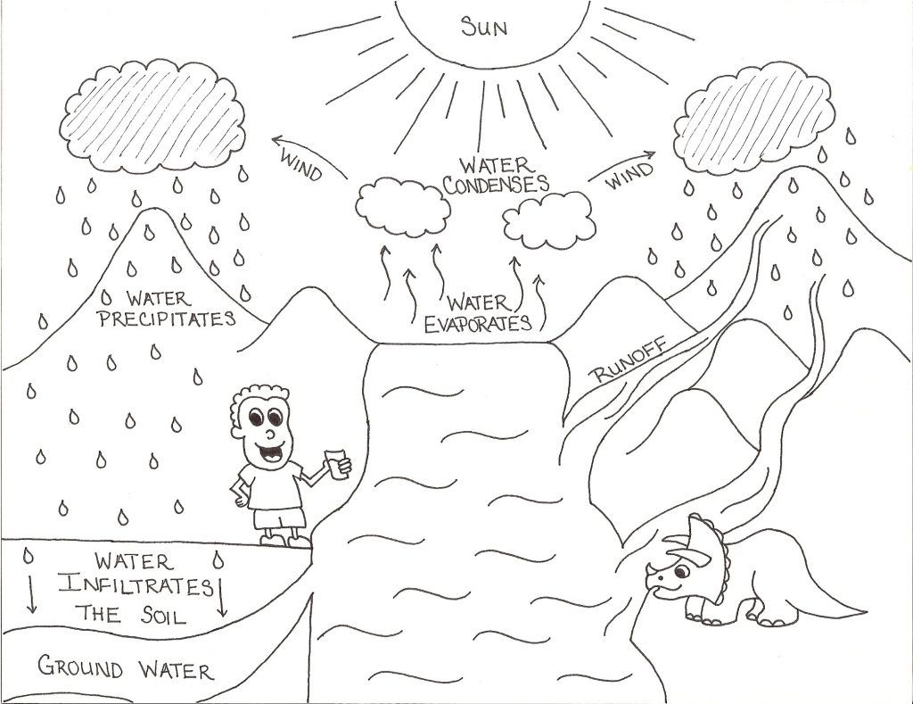 Exclusive Picture Of Water Cycle Coloring Page Cycle For Kids