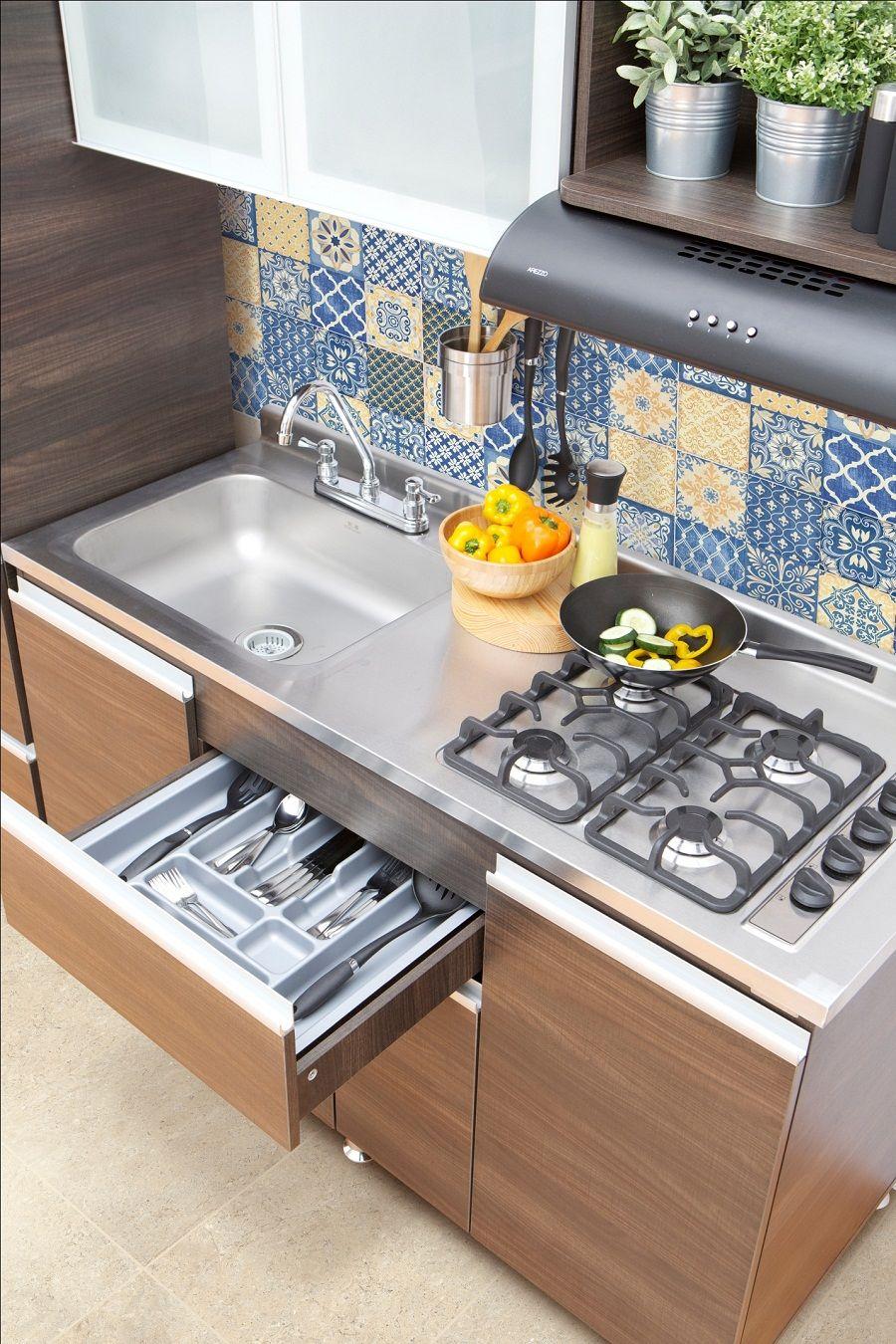 Cocinas listas para armar y para todos los gustos cer mica cocina piso estufa cubiertos - Cocina para todos ...