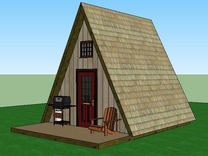 A Frame Cabin Simple Solar Homesteading 14x14 With Loft A