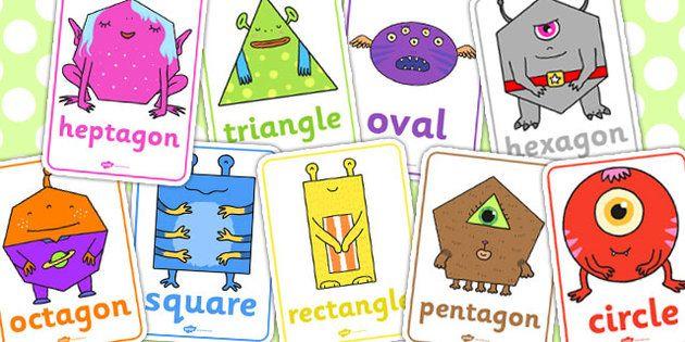 2D Shape Aliens Posters Preschool Ideas Guided Reading