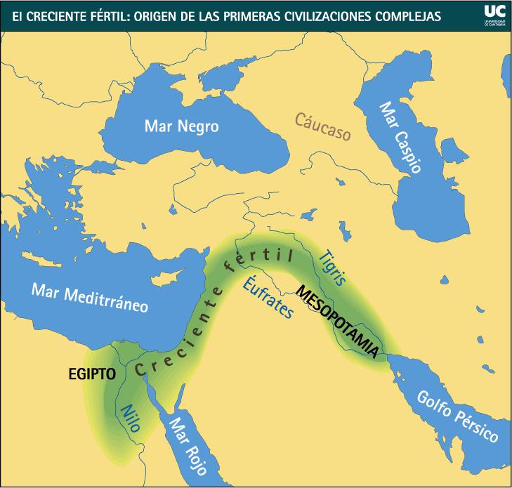 Mapa De Oriente Medio El Creciente Fertil.Pin En Prehistoria E Historia Desde El Paleolitico Hasta