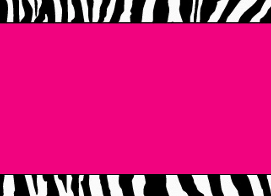 free printable zebra print paper | hot pink zebra template by, Birthday invitations