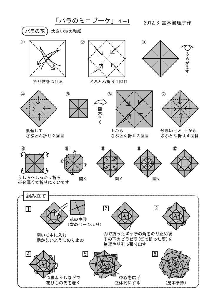 うさぎの餅つき 折図4-3 - swst   ブクログのパブー