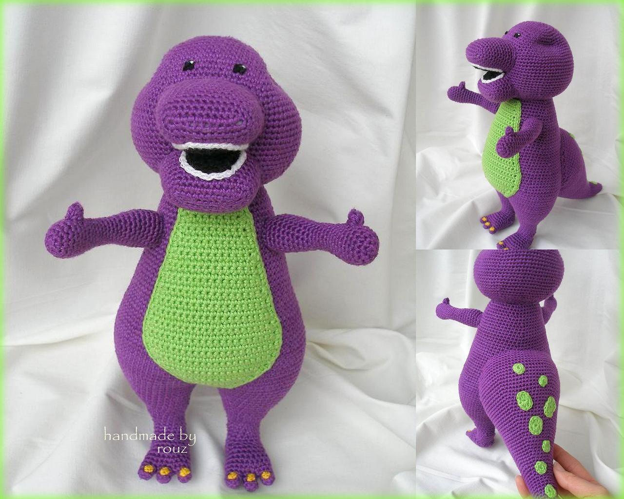 Barney Dinosaur Knitting Pattern : crochet #?barney, barney amigurumi, designed by handmadebyrouz, find at: http...