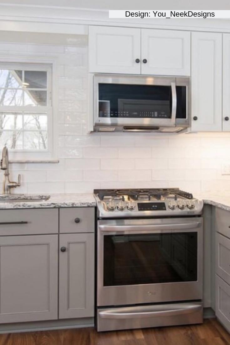 - Santa Monica White 4x12 Subway Tile Kitchen Cabinet Design