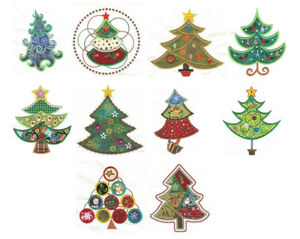 O Christmas Tree Applique Machine Embroidery Designs Machine Embroidery Ith Machine Embroidery