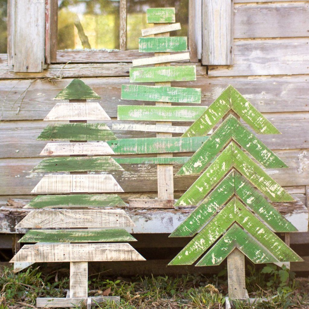 Painted Wood Christmas Trees Crafts To Do Wooden Christmas