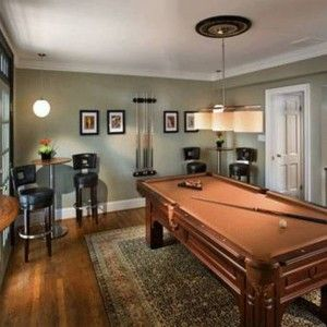 Billiard Room Decor With Grey Walls Cool Billiard Room Decor In