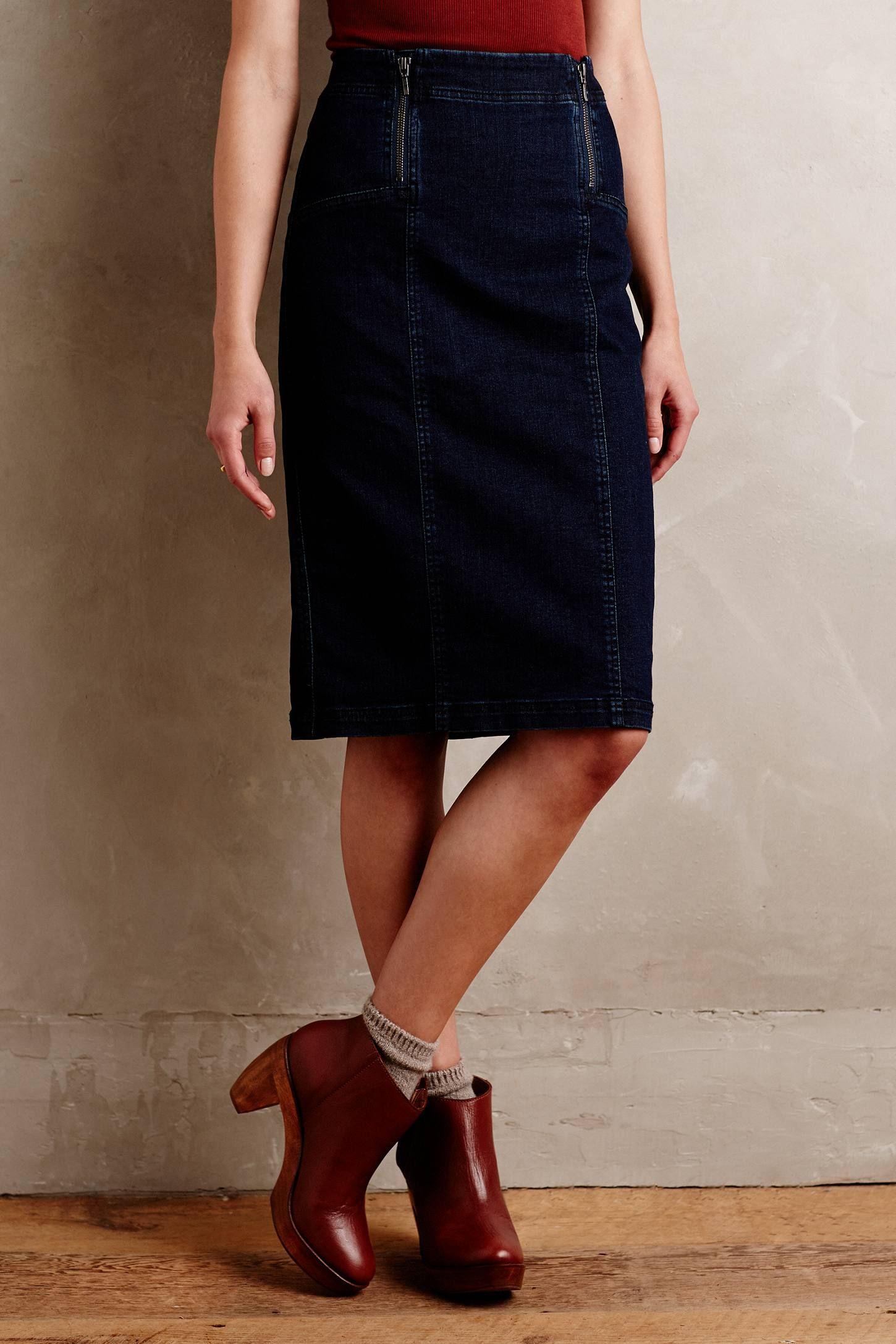 Pilcro Denim Pencil Skirt - anthropologie.com