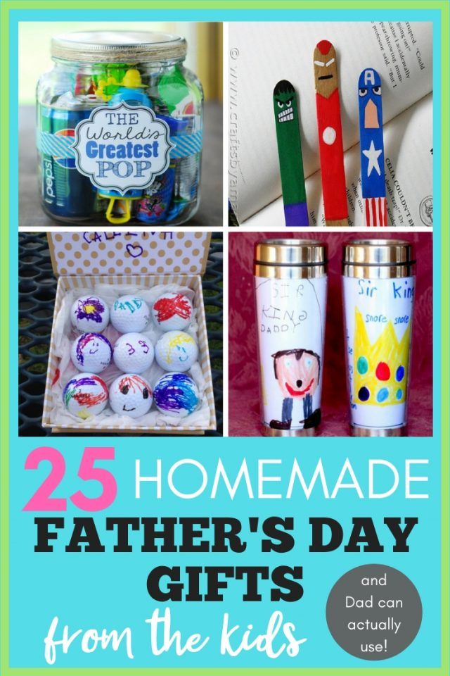 25+ Homemade Father's Day Gifts from Kids {That Dad Can Actually Use} - A Hundred Affections