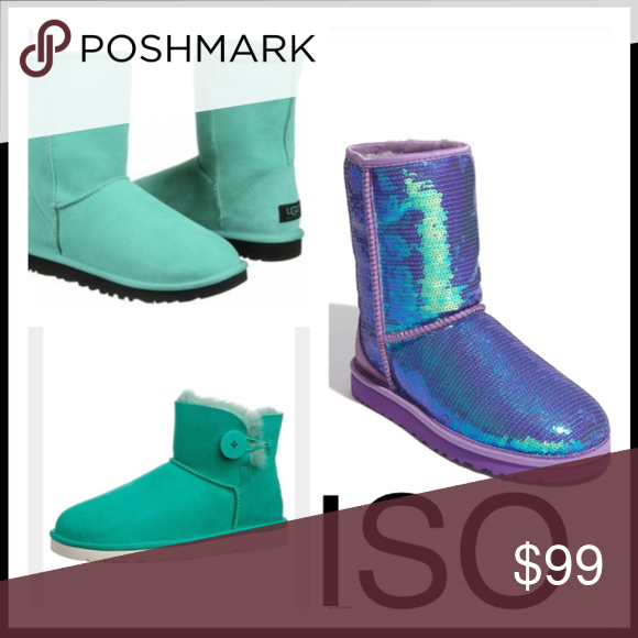 13162eb07c3 ISO UGG boots sparkle jade green neon mint purple DO NOT BUY I am ...