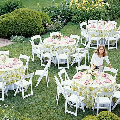Inspiration For A Romanitic Outdoor Bridal Shower Outdoor Bridal