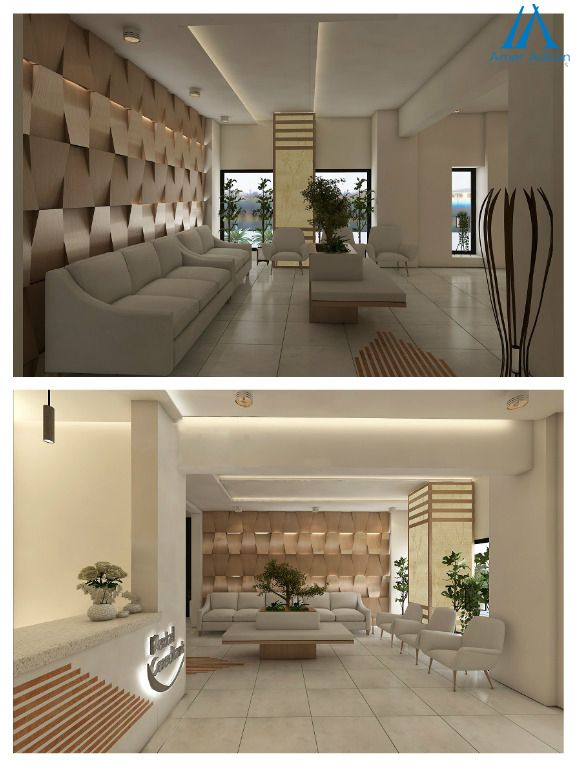 3d Room Interior Design: Tremendous 3D Designs For A Dental Clinic`s Interior By