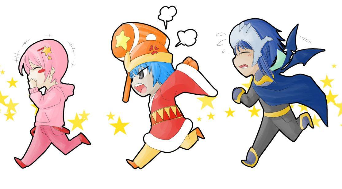 Kirby King Dedede And Meta Knight As Humans Kirby Character
