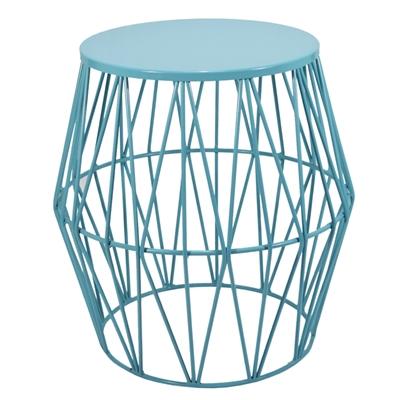 Allen Roth 17 In Aqua Patio Side Table At Lowe S Canada Find Our Selection Of Outdoor End Tables The Lowest Price Guaranteed With Match