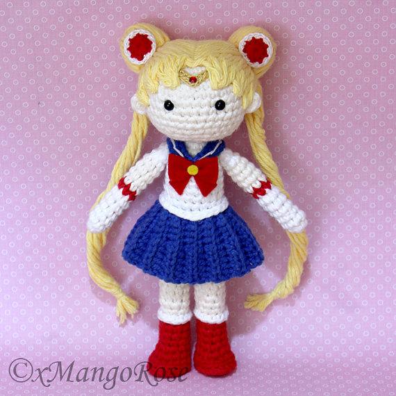 Sailor Moon Plush Amigurumi Doll (Crochet Pattern Only, Digital ...