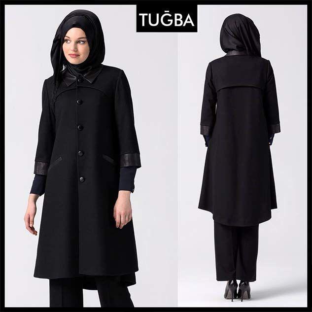 2016 Tugba Kaban Modelleri Ve Fiyatlari Nurfeza Mont Siyah Moda