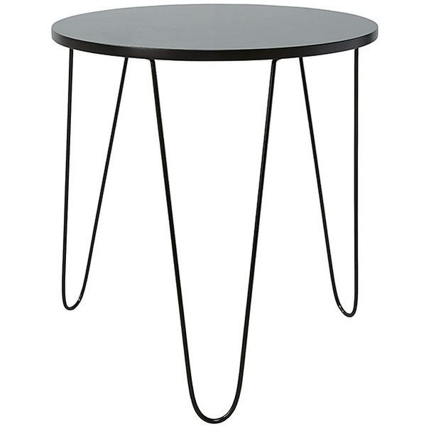 Round Side Table With Hair Pin Legs Black Target Australia Metal Accent Table Round Side Table Round Metal Table