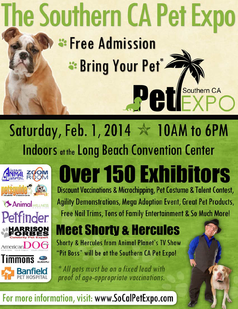 Huge Pet Expo This Saturday Feb 1st At The Long Beach Convention Center Zoom Room Will Be Providing The Agility Demos All Day Come Pl Pets Convention Centre Pet Costumes