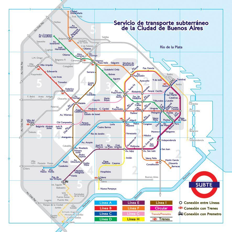 Experimento Grafico Mapa De Proyecto Red Del Metro De Buenos