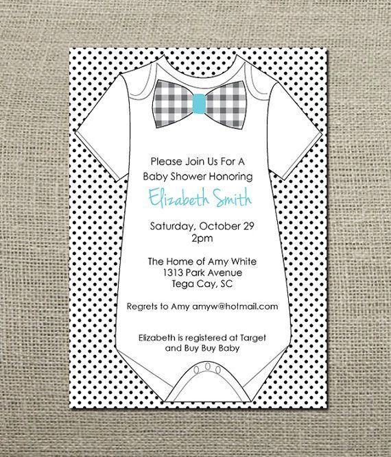 onesie baby shower invitation - Josemulinohouse