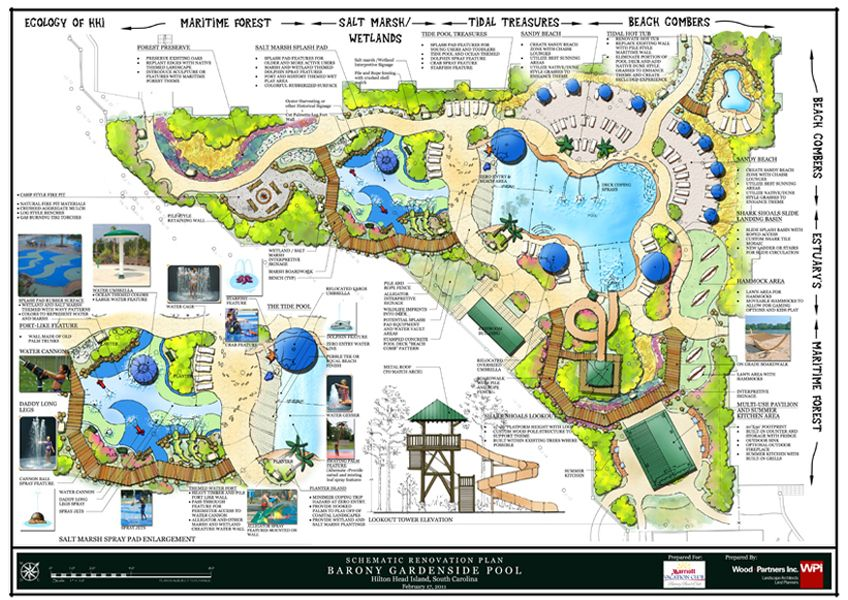 Beach club pool master plan landscape architecture for Pool design program