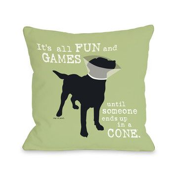 Fun And Games Pillow Ii Now Featured On Fab Dog Games Green Throw Pillows Dog Throw