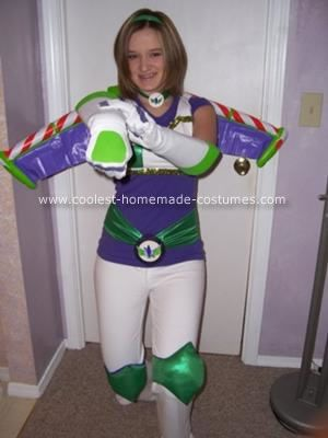Homemade Female Buzz Lightyear Costume I always want to be something unique for Halloween  sc 1 st  Pinterest & Coolest Homemade Female Buzz Lightyear Costume | Pinterest | Buzz ...