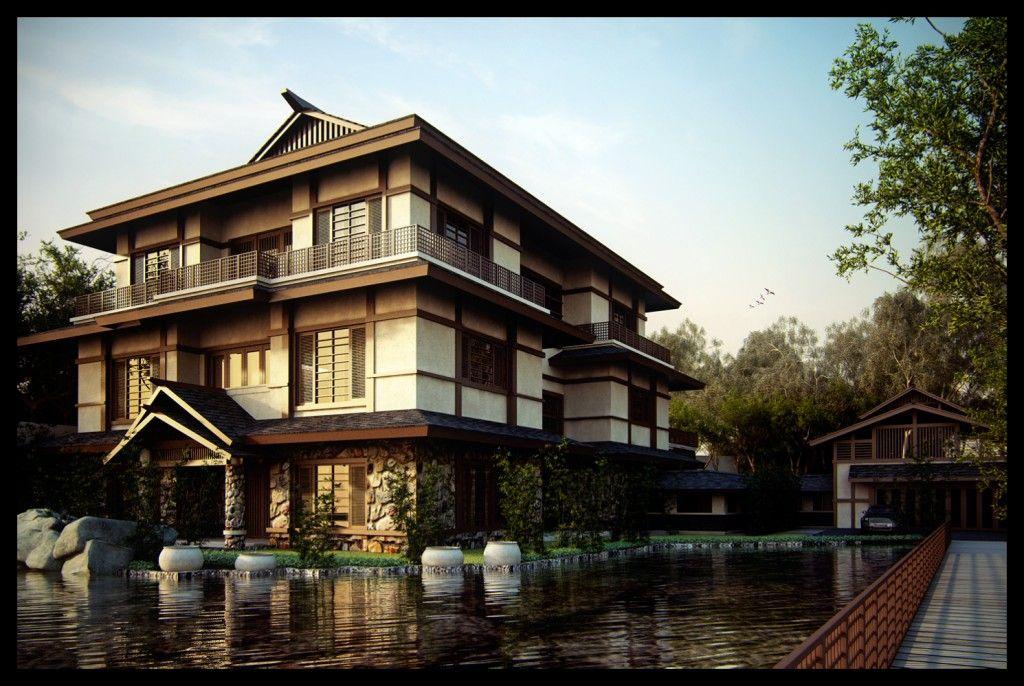 Home, Traditional Japanese Home Designs Elegant