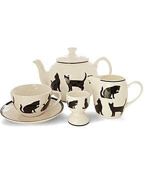 Linea Silhouette Cat Tea Serveware Range House Of Fraser