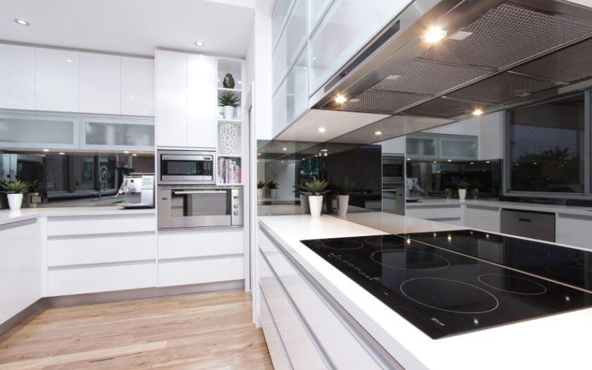 White Kitchen Mirror Splashback smoked mirror splashback | kitchen | pinterest | mirror splashback