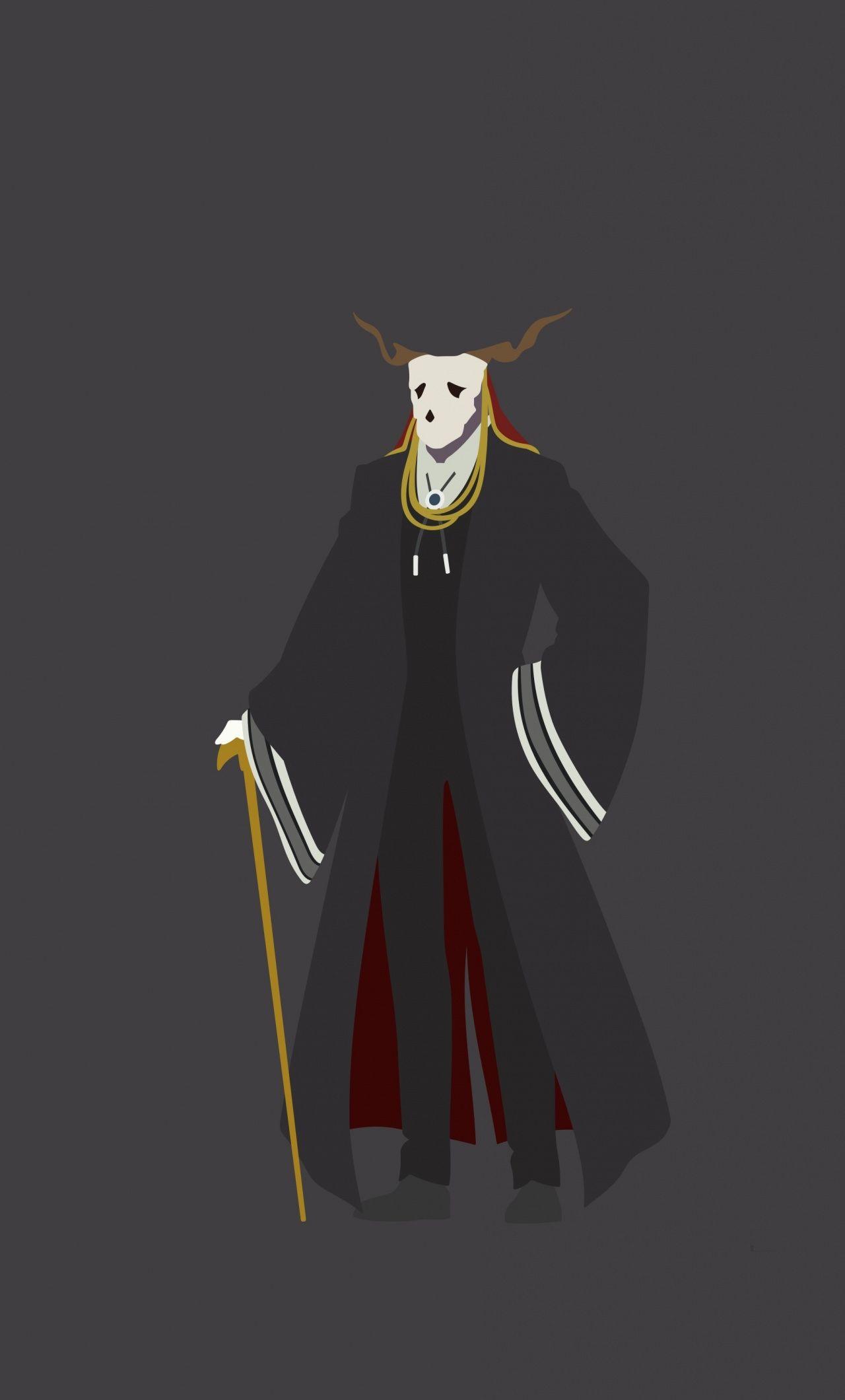 Ancient Magus Bride Minimal Anime Boy Skull Elias Ainsworth