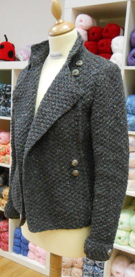 Military Style Jacket Knitting Pattern | Knitwit | Pinterest