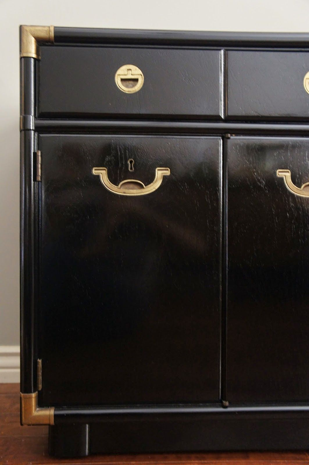 how to paint lacquered furniture. Black Lacquer Furniture Paint. Brass Recessed Campaign Pulls And Hardware. Paint How To Lacquered