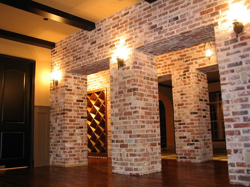 Beautiful Interior Brick Veneer | Texas Antiques  Custom Blend Of Modular U0026 Oversize  Antiques