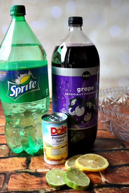 (Non Alcoholic) Mardi Gras Punch Recipe